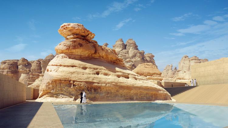 "Wendell Burnette Architects Designs ""Mirage"" Hotel for Saudi Arabia's 1st UNESCO Site, Courtesy of Wendell Burnette Architects"