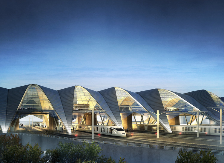 PLH Arkitekter Wins Rail Baltica Competition with Arch-Inspired Infrastructural System, Courtesy of PLH Arkitekter