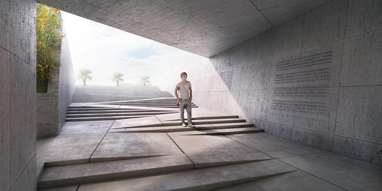 Conoce el segundo lugar en el concurso del Museo de la Memoria y Derechos Humanos en Concepción, Chile, Cortesía de Equipo Segundo Lugar