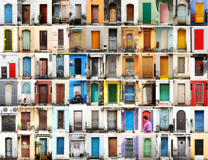 Las 600 puertas encontradas por Ricky Gui en Singapur, Cortesía de Ricky Gui