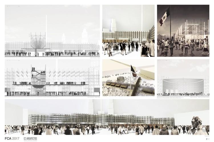 CC Arquitectos. Image Cortesía de LIGA, Espacio de Arquitectura DF