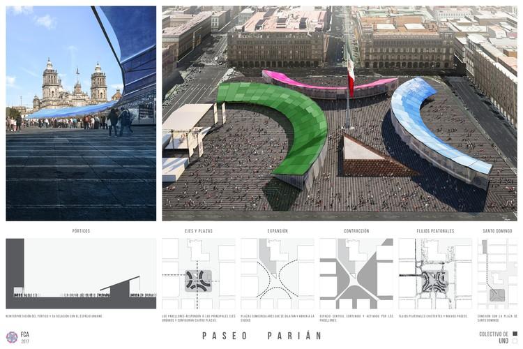 Primer lugar: Colectivo del Uno. Image Cortesía de LIGA, Espacio de Arquitectura DF