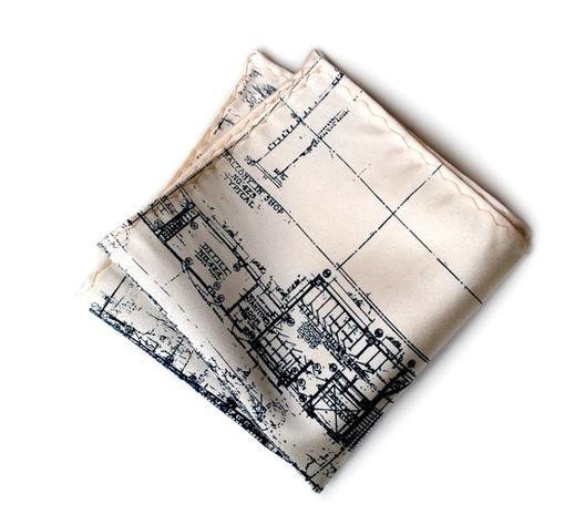 Blueprint Handkerchief / Cyberoptix