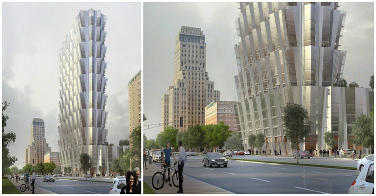 Studio Gang Designs Tiered Mixed-Use Tower on Forest Park in St. Louis, Courtesy of Studio Gang
