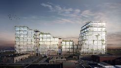 BIG Unveils Mixed-Use Concrete Superstructure for Los Angeles' Arts District