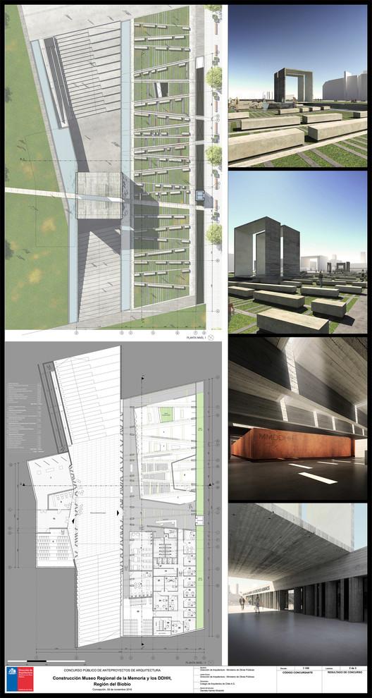 Tercer Lugar / Lámina 02. Image Cortesía de Gobierno Regional Biobío / Difusión