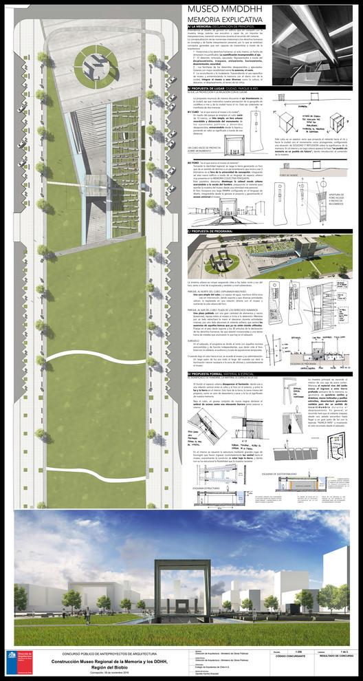 Tercer Lugar / Lámina 01. Image Cortesía de Gobierno Regional Biobío / Difusión