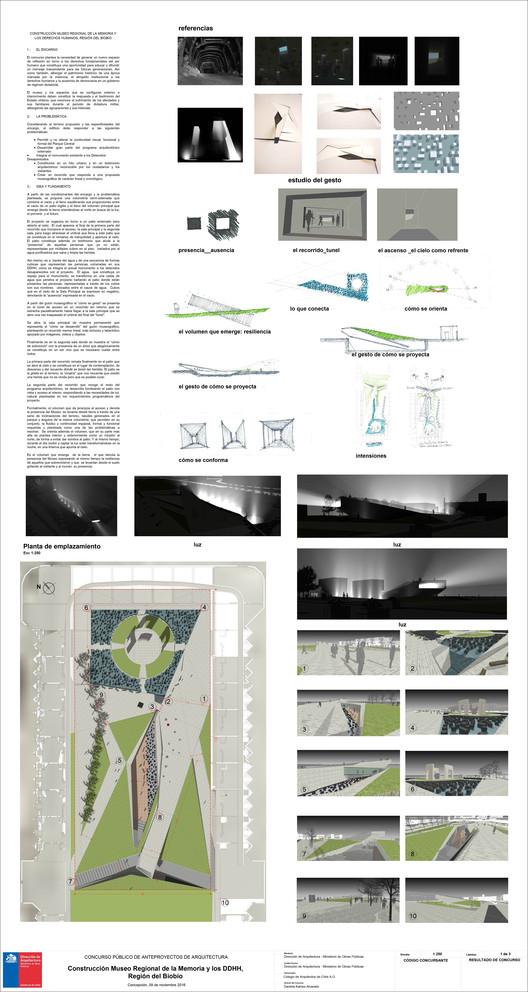 Mención Honrosa / Lámina 01. Image Cortesía de Gobierno Regional Biobío / Difusión