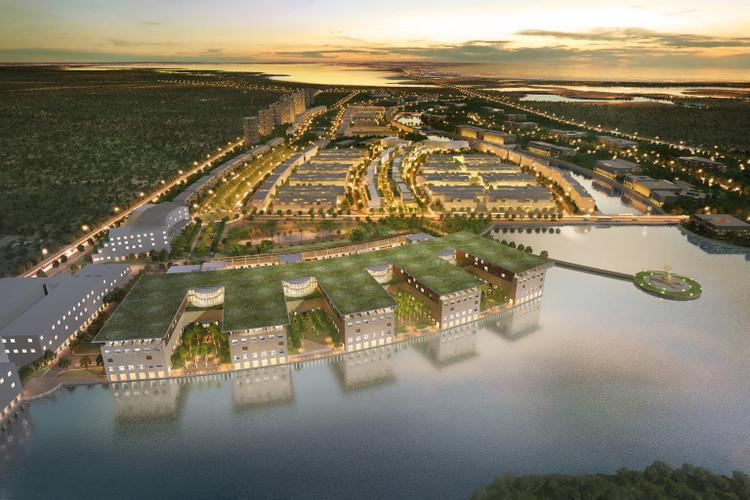 Centro Hospitalario y Plan Maestro Serena del Mar / Moshe Safdie . Image vía Safdie Architects