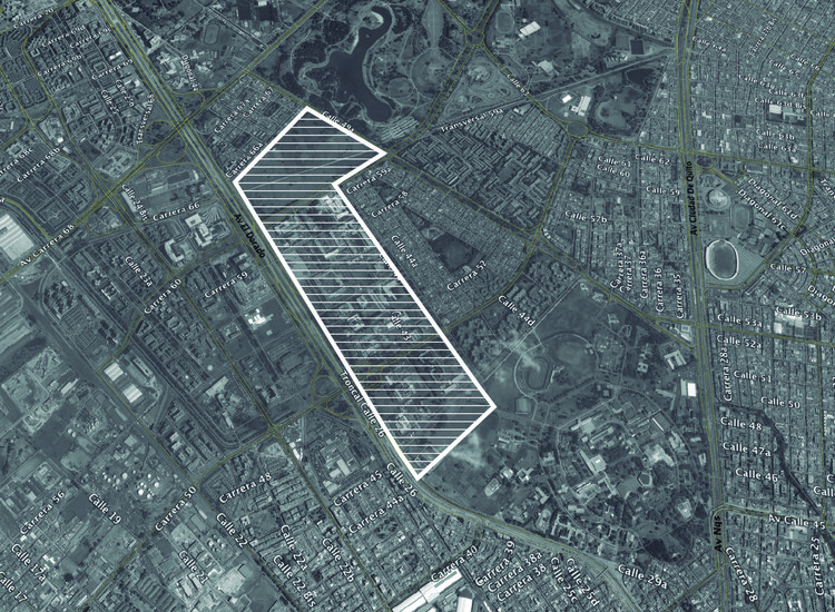Localización: Plan Maestro Centro Administrativo Nacional / OMA + Gomez Castro Arquitectos. Image © Richard Gerald. Imagen base: Google Maps