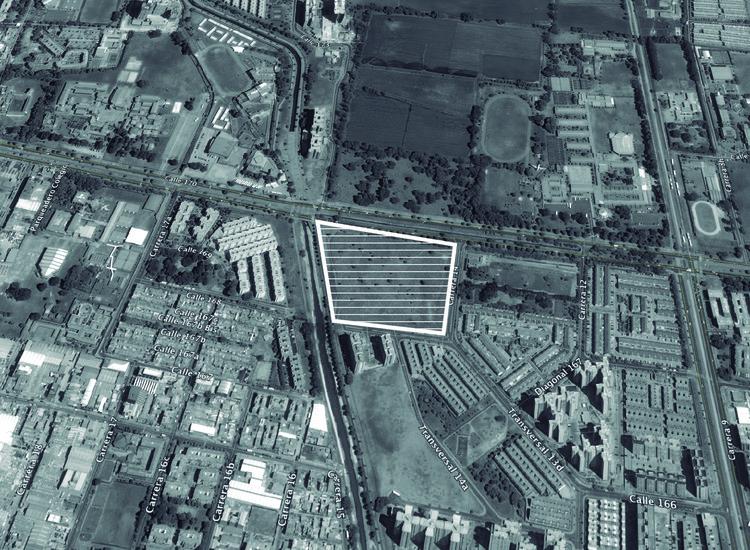 Localización: Hospital Oncológico / Rafael de La-Hoz. Image © Richard Gerald. Imagen base: Google Maps