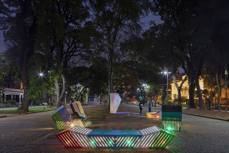 Storytelling Street Furniture Featured in URBE 2016, © Etudio Guto Requena