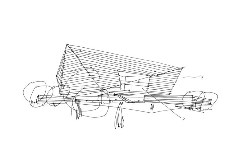 Sketch. Image © Schmidt Hammer Lassen Architects
