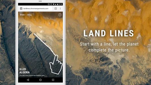 Land Lines Chrome Experiment. Imagen Cortesía de Lines