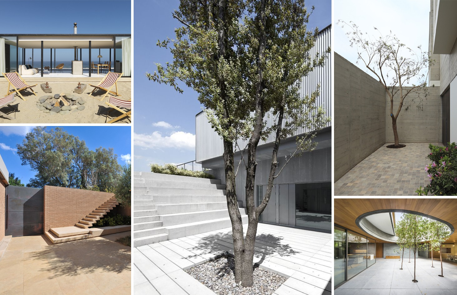 13 stunning inner courtyards archdaily for Casas minimalistas con jardin
