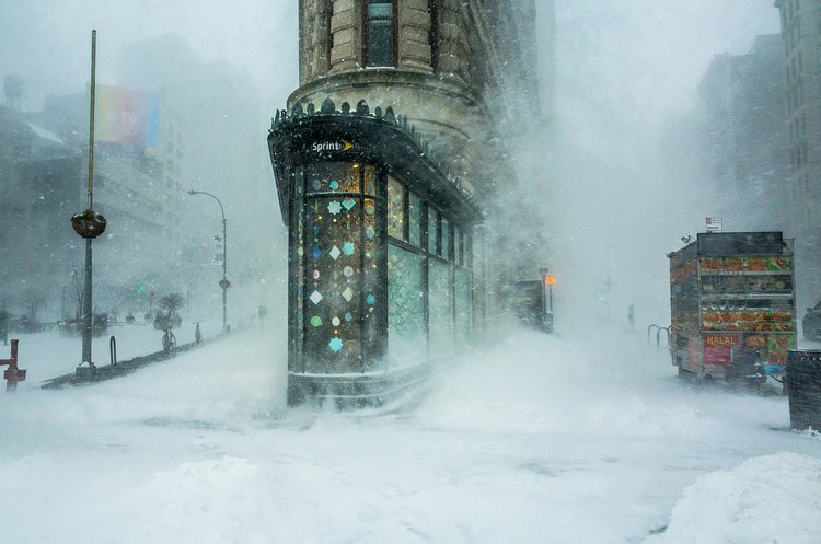 """Flatiron Building in a Snowstorm"". Imagen © Michelle Palazzo"