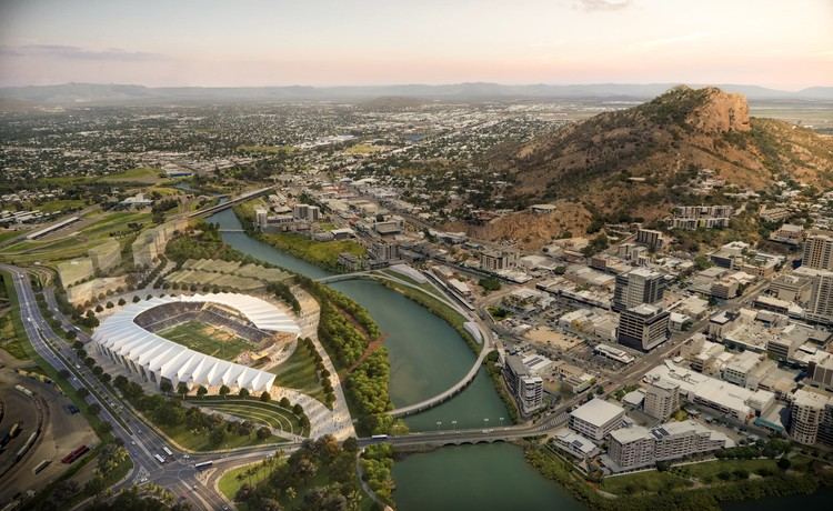 Cox Architecture Wins Competition for North Queensland Rugby Stadium, Courtesy of Cox Architecture