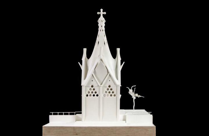 Aprueban fondos para construir en Chile la única obra de Gaudí fuera de España, Croquis de la Capilla de Nuestra Señora de los Ángeles. Image © Corporación Gaudí de Triana