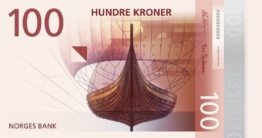 Front of the 100-krone note. Image © The Metric System