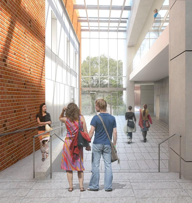 Atrio sur. Imagen cortesía de Ennead Architects