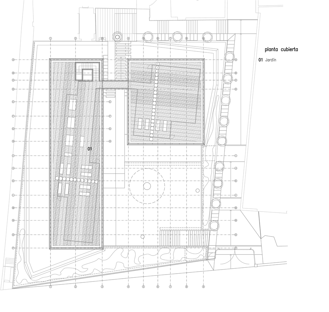 Oak house high school buildingroof plan