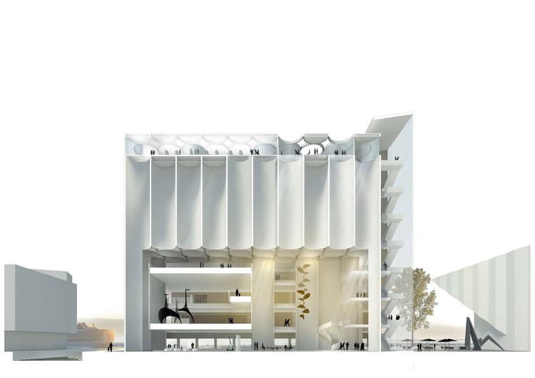 Propuesta ganadora por MESTRES WÅGE ARQUITECTES y MX_SI ARCHITECTURAL STUDIO. Imagen cortesía de Kunstsilo