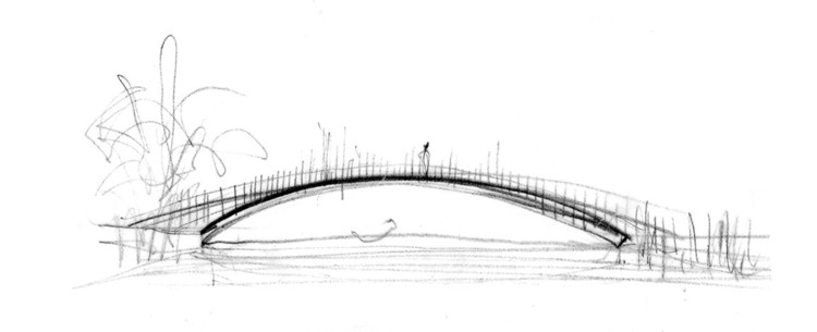 Pedestrian Bridge. Image © Miro Rivera Architects