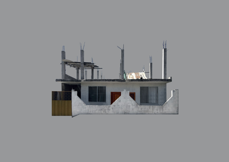 """Unfinished"" construction in Puerto Baquerzio Moreno. Image © Joseph Kennedy"
