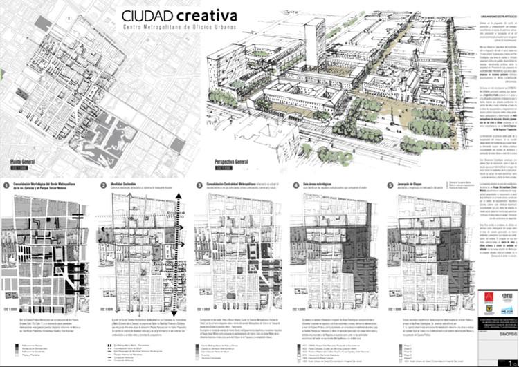Segundo Lugar / FCL – Proyectar Ciudad. Image Cortesía de SCA