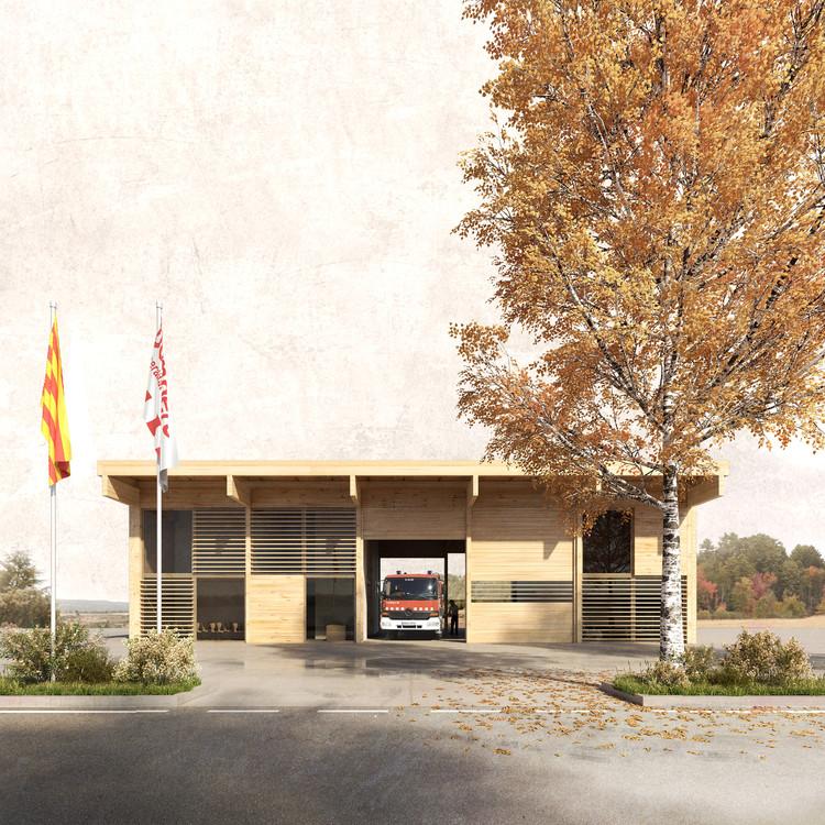 Josep Ferrando presenta diseño de nuevo parque de bomberos en España, Cortesía de Josep Ferrando