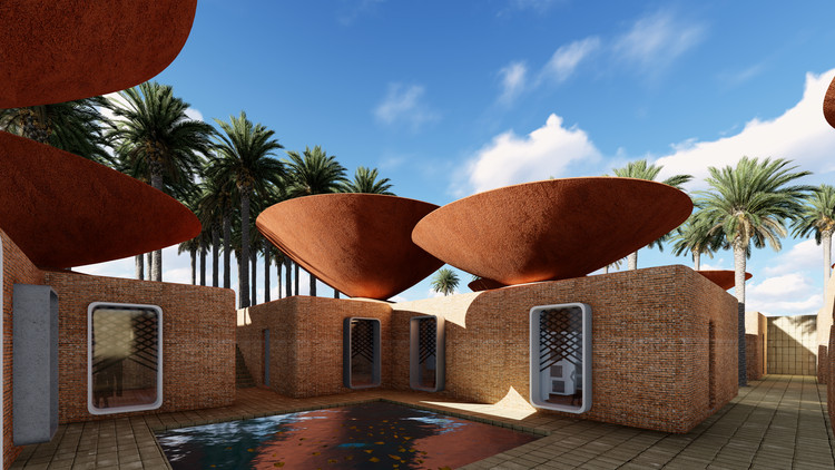 This Concave Roof System Collects Rainwater in Arid Climates, Courtesy of BMDesign Studios