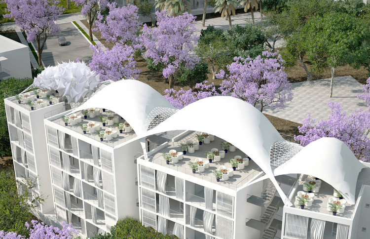 30-Hectare–Olive Grove Converted to Eco-Friendly Public Housing Development, Courtesy of v2com