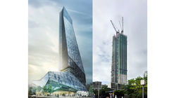 Hanking Center Tower in China to Become Tallest Detached Core Building Worldwide