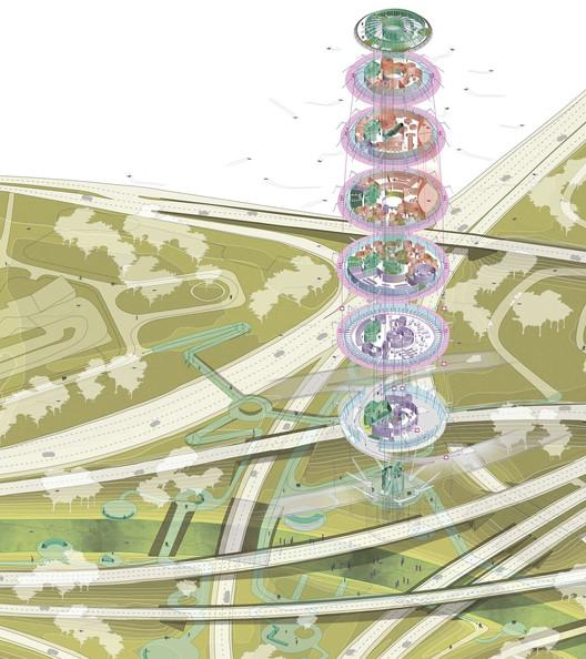 Nodo Sur de la carretera M-30. Image Cortesía de Saúl Ajuria Fernández