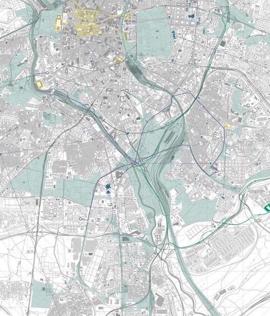 Nueva red de infraestructura. Image Cortesía de Saúl Ajuria Fernández