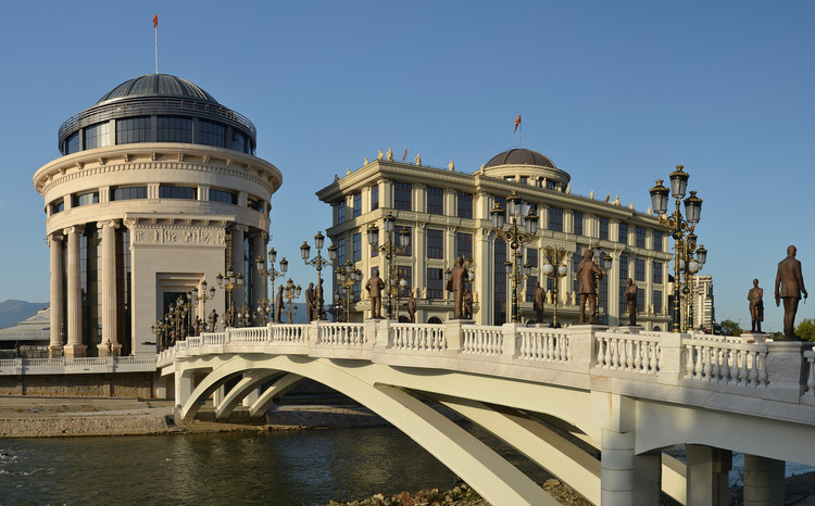 Skopje 2014 is a Controversial Project Aimed at Remodeling the European City, Courtesy of © Wikimedia user Pudelek licensed under CC BY-SA 4.0