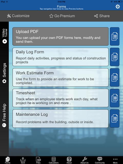 Construction Manager App, vía SnappiiM