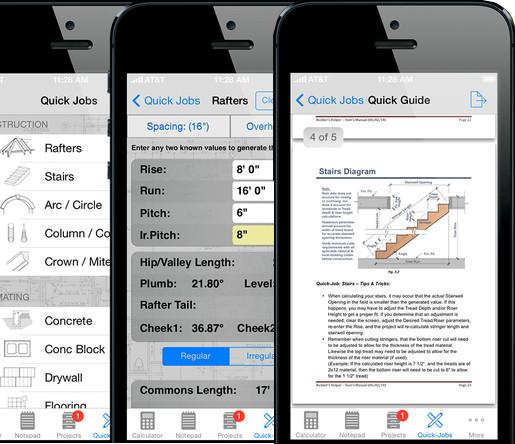 Builder's Helper - Advanced Construction Calculator, vía iTunes