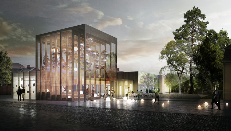 "White Arkitekter Proposes Transparent ""Lantern"" Design for Akershus Art Center, Courtesy of White Arkitekter"
