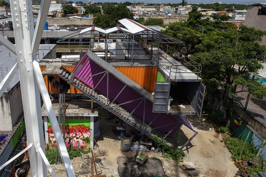© José Bastidas / Pico Collective. Courtesy of Curry Stone Design Prize. ImageCultural production unit ZPG. Reused Components. Guaraca, Carabobo, Under Construction