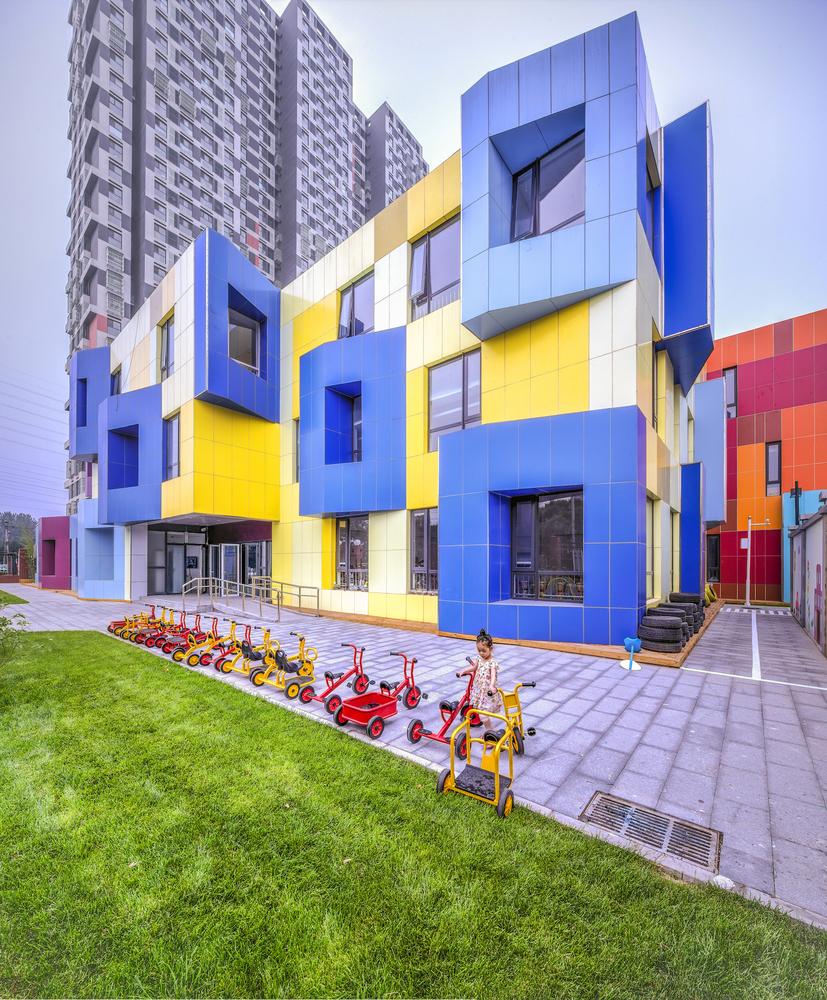 desain gedung sekolah modern untuk anak SD dan TK