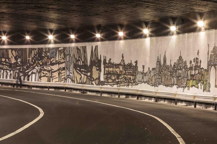 """""""Soy Mi Centro"""", un mural de mosaicos que ilustra iconos arquitectónicos de la Ciudad de México, Cortesía de Jorge Cejas"""