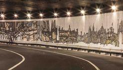 """""""Soy Mi Centro"""", un mural de mosaicos que ilustra iconos arquitectónicos de la Ciudad de México"""