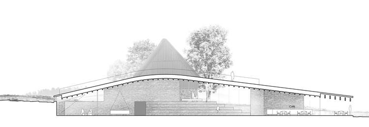 Corte. Imagen Cortesía de Arkitema Architects