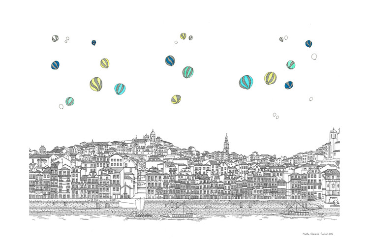 Estas intrincadas ilustraciones presentan ciudades fantásticas en detalle, © Marta Vilarinho de Freitas