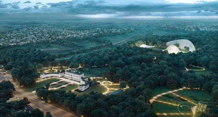 Mecanoo restaura palácio na Holanda e propõe um jardim experimental, © Omega Render