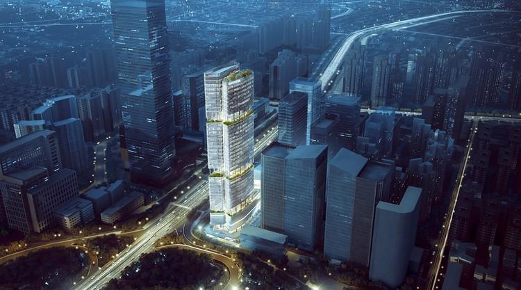 Inspirado en el bambú, Aedas presenta diseño de futuro rascacielos en China , Cortesía de Aedas
