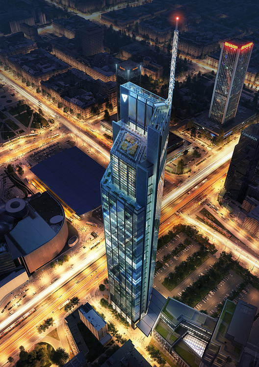Foster + Partners Begins Construction on Poland's Tallest Tower, Courtesy of Foster + Partners