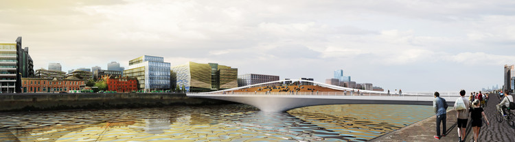 Dublin Rotating Bridge Proposal Aims to Catalyze the City, Courtesy of Feng Xue, Helen Chan, and Oscar Reyes (FOH)