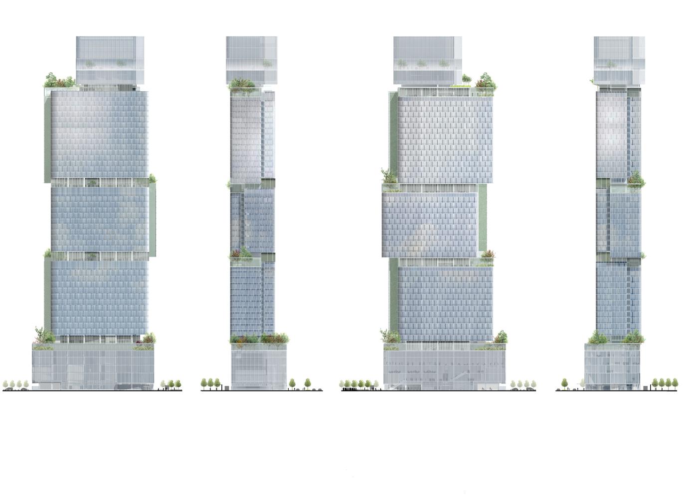 paris jardins de l arche tower 200m 54 fl pro. Black Bedroom Furniture Sets. Home Design Ideas
